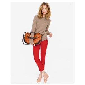 J. Crew Red Frankie Ankle Pants Size 2 Stretch